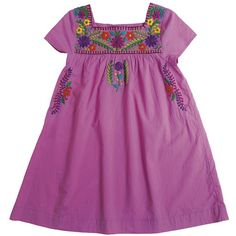Pink Chicken - Girl's Embroidered Pink Marabelle Dress