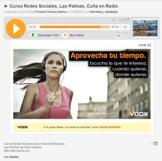 Gran Canaria, Cuña en Radio Motivadora para promocionar Curso Redes Sociales http://www.cursoredessociales.es/gran-canaria-cuna-en-radio-motivadora-para-promocionar-curso-redes-sociales/