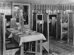 The room de luxe, Willow Tea Rooms, Sauchiehall Street, Glasgow, designed by Charles Rennie Mackintosh in 1903