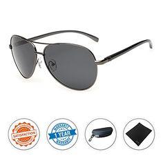 SALE PRICE $14.99 - J+S Premium Ultra Sleek, Military Style, Sports Aviator Sunglasses, Polarized, 100% UV protection