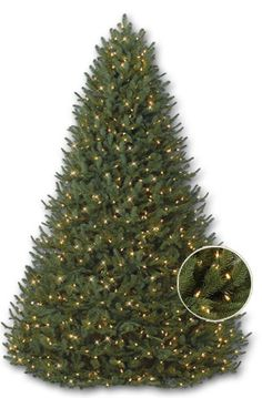 santa 39 s best 7 5 ft indoor pre lit led splendor spruce artificial christmas tree with remote. Black Bedroom Furniture Sets. Home Design Ideas