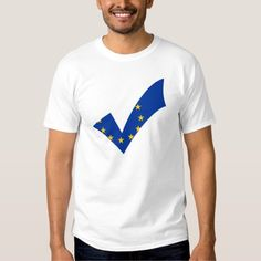 Yes Checkmark Flag Pro European Union Shirt. #europe #europeanunion #proeurope #proeuropeanunion #eu #brexit #stay #yes #checkmark #euflag #flags
