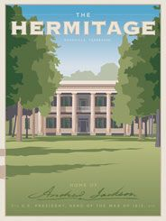 """Hermitage - Former U.S. President General Andrew Jackson built the Hermitage for his wife Rachel in 1819. With its """"false front,"""" this Nashville mansion is a fine example of Greek Revival architecture. The federal government recognized The Hermitage as a National Historic Landmark in 1960."""