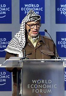 Yasir Arafat 1 presidente de la autoridad Nacional Palestina