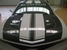 #ChevroletCamaro in a carbon fiber version. BREBECK Composite produced the front hood of the car. www.brebeckcomposite.com