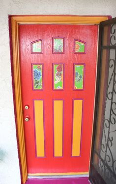 SW » Puerta frontal by Crafty Chica. Painted Front Doors, Crafty, Frame, Creative, Interior, Painting, Inspiration, Home Decor, Windows