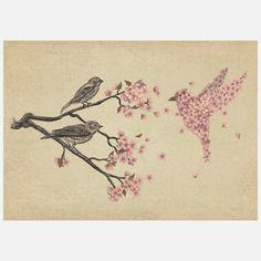 Blossom Bird. Would make a cool tattoo.