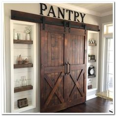 39 Mind-blowing Kitchen Pantry Design Ideas for Your Inspiration ⋆ aviatech.xyz 39 Mind-blowing Kitchen Pantry Design Ideas for Your Inspiration ⋆ aviatech. Kitchen Pantry Design, Home Decor Kitchen, Farm Kitchen Ideas, Kitchen Pantries, Barn Kitchen, Kitchen Pantry Doors, Open Pantry, Wall Pantry, Pantry Sign