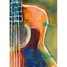 Rifkin - ACEO - Acoustic Guitar - Left - Original Watercolor