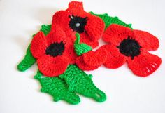 Pretty lil' poppies by Corkycrafts on Etsy