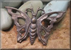 Hey, I found this really awesome Etsy listing at https://www.etsy.com/listing/222728235/antique-brass-butterfly-connector-or