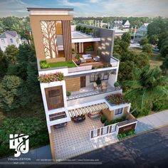 The modern home exterior design is the most popular among new house owners and those who intend to become the owner of a modern house. Modern Exterior House Designs, Modern House Facades, Dream House Exterior, Modern House Plans, Modern House Design, Exterior Design, Stucco Exterior, Cottage Exterior, Bungalow House Design