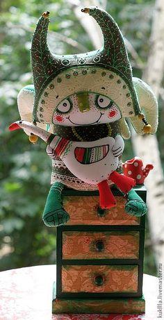 """Коллекционные куклы ручной работы. Ярмарка Мастеров - ручная работа Авторская кукла """"Огородные дела"""". Handmade."""