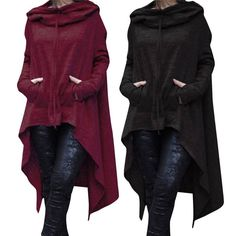 Eve™ - The Asymmetric Hoodie<< it looks like the Scarlet Witches Clock Cool Outfits, Casual Outfits, Style Africain, Halloween Kostüm, Sweatshirt Dress, Character Outfits, Kind Mode, Gothic Fashion, Mantel