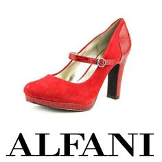 "Alfani red heel pumps suede. New in box. Heel 4"". Alfani Shoes Heels"