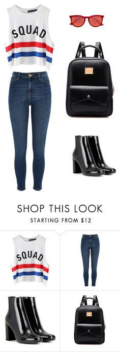 """"""""""" by noemi-ilyes ❤ liked on Polyvore featuring Chicnova Fashion, River Island, Yves Saint Laurent and Ray-Ban"""