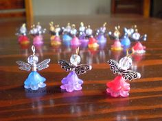 Beaded Angels - phone charms - made by Shell