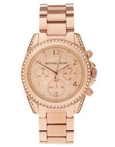 d83f70cb9a0e Michael Kors Blair MK5263 Rose Gold Chronograph Watch at asos.com
