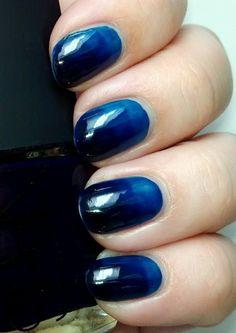 polish insomniac: A subtle gradient using Nars Midnight Express