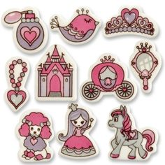 "#2776 Little decorating pieces ""Princess"", various on decorating mass"
