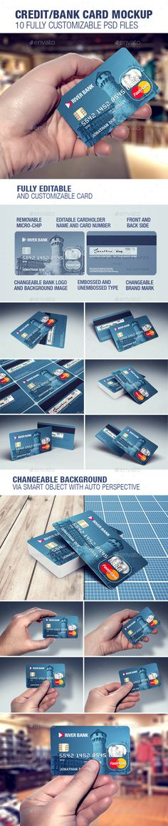 Credit/Bank Card Template & Mockup. Download here: http://graphicriver.net/item/creditbank-card-template-mockup/16197701?ref=ksioks