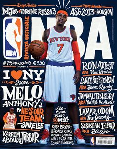 39d1af4e97a New York basketball stars this new cover Rivista Ufficiale NBA. It's the  official NBA Magazine in Italy Art director Francesco Poroli .