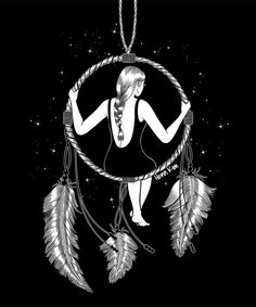 Dream Catcher - Dream a Little Dream of Me. Surrealism in Black and White Symbolic Illustrations. By Henn Kim.