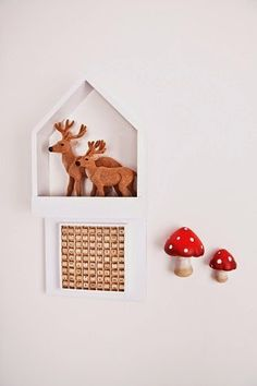 roomor!: Alamo - metalowe mebelki dla dzieci! made in poland, house shaped shelve, kids room deco