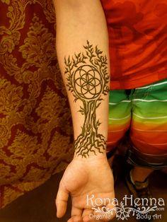 Kona Henna Studio - Seed of Life, Tree of Life wrist henna.