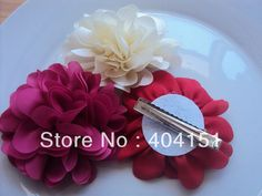 Free Shipping!30PCS/LOT Chiffon Puff Flower Alligator Clips For Girls Hair,hair ornaments wholesale