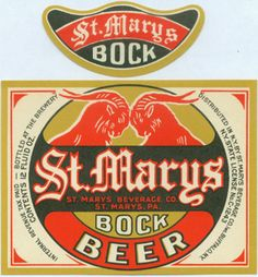 St, Marys Bock Beer Label