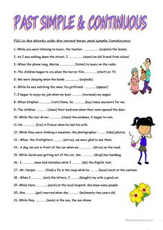PAST SIMPLE AND PAST CONTINUOUS TENSES