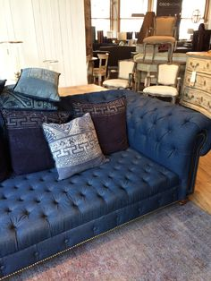 Denim sofa.  Now this is a denim sofa I can get on board with. ABC Home #abcdreamspace