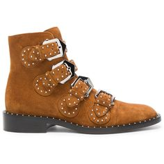 Givenchy Elegant Studded Suede Ankle Boots ($1,390) ❤ liked on Polyvore featuring shoes, boots, ankle booties, ankle boots, booties, short suede boots, studded ankle boots, bootie boots, low heel ankle boots and givenchy boots