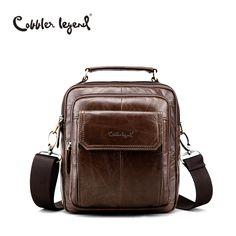 Cobbler Legend Men s Natural Cowskin Small Travel Bag Man Genuine Leather  Vintage Business Messenger Shoulder Bag c6bc64abeef44