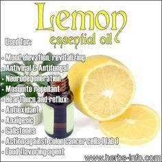 Lemon essential oil: antifungal, antibacterial, gallstones, reflux www.fb.com/HealingLotusAromatherapy
