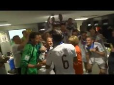 Germany Team celebration after winning the World Cup 2014