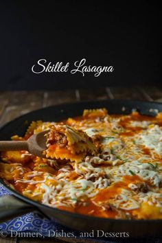 Quick and Easy Skillet Lasagna - Make lasagna perfect for a weeknight meal. Ravioli makes this ready in less than 30 minutes, and pure comfort food everyone will love.