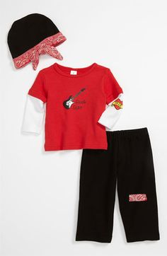 Baby Aspen 'Baby Rockstar' Shirt, Pants & Hat (Infant) available at #Nordstrom