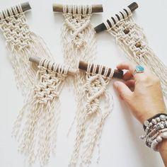 Itty bitty minis for Alicia #macrame #minimacrame #handmade #fibreartist #macramemaker #handmade #modernmacrame