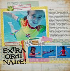 Scrapbook Page by Marie-Pierre Capistran | GetItScrapped.com/blog