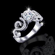 Unique Black Diamond Wedding Rings | 40 tcw unique engagement ring $ 5990 00 elegance and unique ...