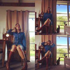 Denim for days  @theiconicau #theiconicau #denimdress #denim #style #autumn #sunroom #home #fashion #lady #womens #clothing #lady #natural #hues #paprika #oddsocks #vintageinspired #70s #layers #boots #chelsea #blonde #blues #applewatch #rosegold #cat #model #portfairy #tan #sportsgirl #australia by moniquemoonchild