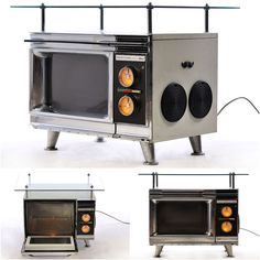 Oven Mp3 Table, Winner of our April contest! #Contest, #Oven, #Recyclart, #Speakers, #Table, #Winner