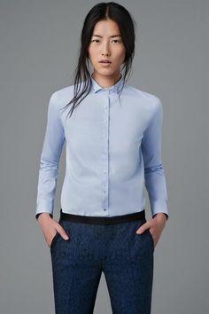 Zara голубая рубашка
