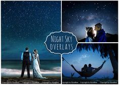 45 Night Sky Photoshop Overlays by ElyseBear on Creative Market