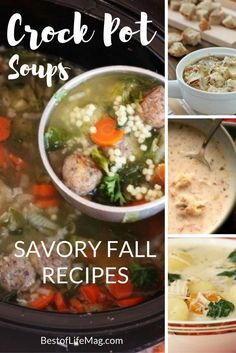 Crock Pot soups for fall take all the flavors you love from seasonal vegetables and meats and makes a fantastic meal. via @AmyBarseghian