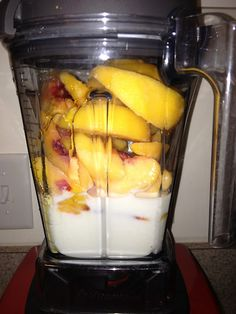 Clean Peach Ice Cream Ingredients: 1 cup milk 1 bag frozen peaches Agave nectar, to taste Directions: Add ingredients in order they are listed Start Vitamix at Variable 1, then turn to Variable 10 Flip to High Push ingredients with tamper if necessary Stop machine when ingredients are frozen and four chambers are formed at the top Scoop out and Enjoy!