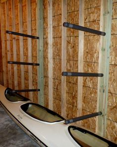 Image final result for galvanized pipe kayak Kayak Storage Rack, Kayak Rack, Boat Storage, Garage Storage, Kayak Holder, Garage Organization, Organization Ideas, Kayak Camping, Canoe And Kayak