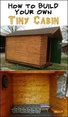 Here's a weekend cabin you can build on a tight budget! Is this going to be your next project?